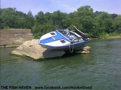 If this isn't storm damage, don't let this guy park your boat!