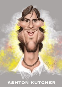 Ashton Kutcher Caricature