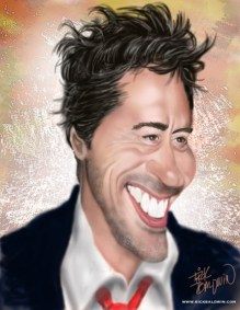 Robert Downey Jr Caricature