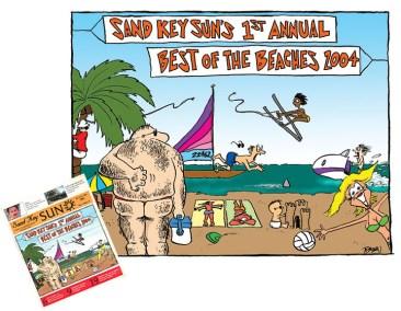 Rick Baldwin Sand Key Sun Cover Illustration 2005-01-16