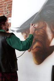 Painting The Scrooge mural