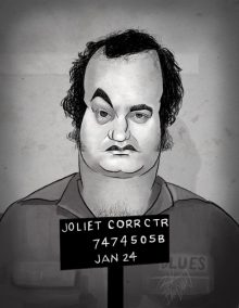 "John Belishi's ""Joliet Jake"" caricature by Rick Baldwin"