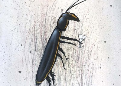 Cockroach With Martini