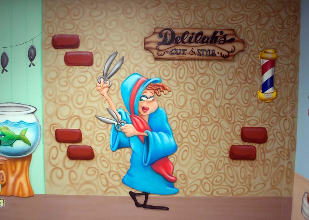 Cartoon Character Mural by Atlanta Muralist Rick Baldwin
