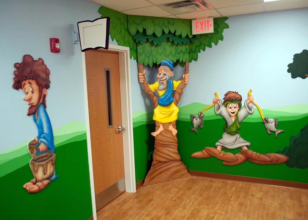 Kids Church Mural by Atlanta Muralist Rick Baldwin