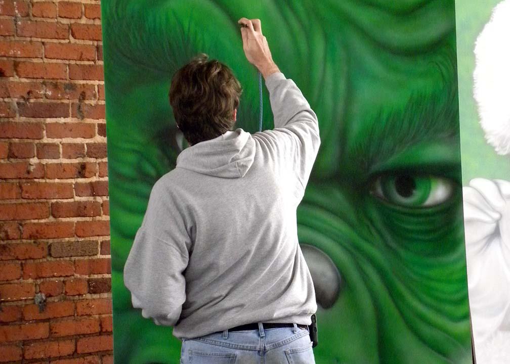 Grinch Mural by Atlanta Muralist Rick Baldwin