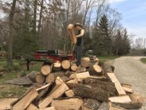 Dan Coplin Splitting Wood