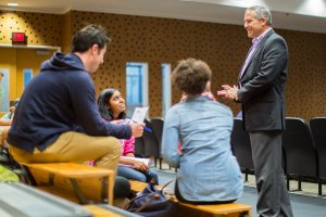 Rick Coplin Discussing with Students