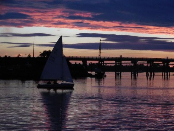 sailors at sunset