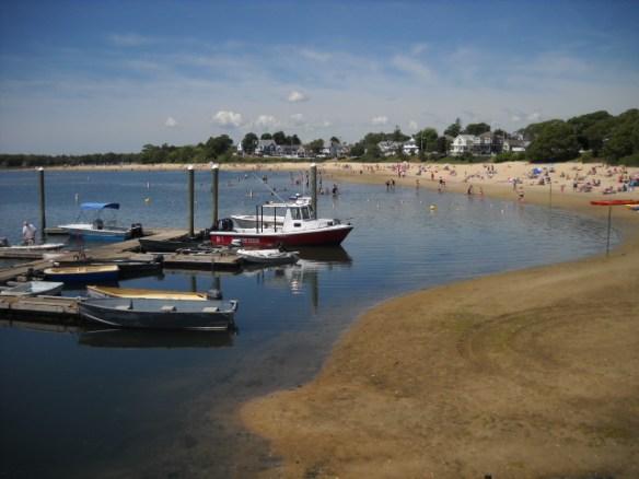 Dinghy dock, Onset beach.