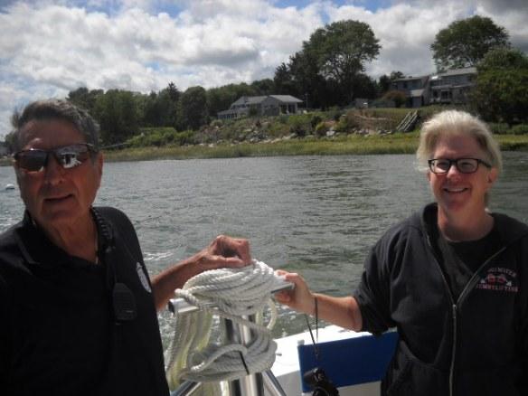 Shellfish Constable Francis Ferioli and Archivist Susan Aprill.