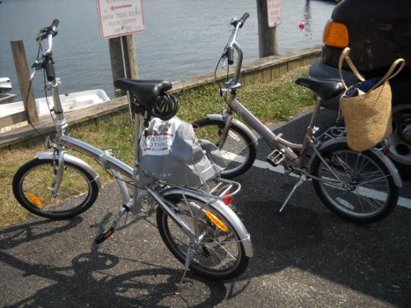 Our bikes await.