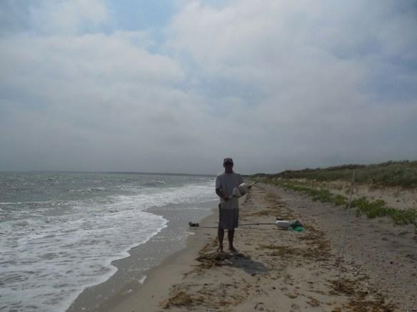 Your humble captain, beachcombing Oyster Harbors Beach.