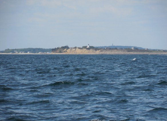 The Lighthouse on Gurnet Point. North side of Plymouth Bay.