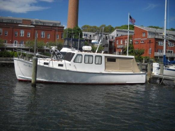 M/V Fishbones docked in Wareham Harbor.
