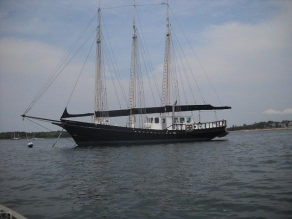Sailing vessel BLACK SEAL in the Kingman mooring field.