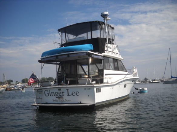Ginger Lee moored in Stoneington, CT.