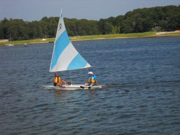 Sailing in the Wareham River.