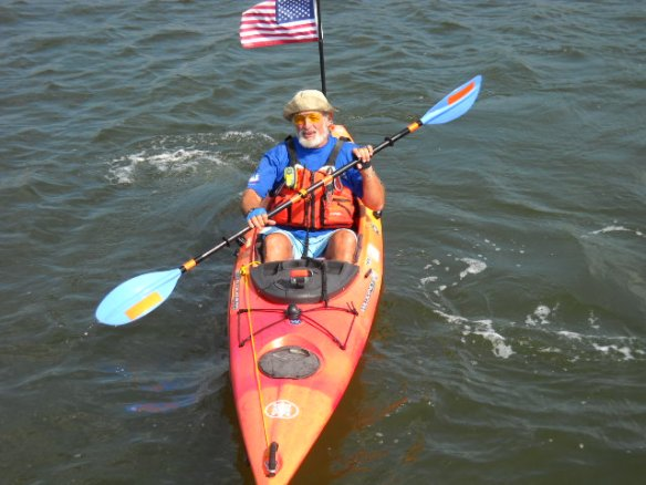 Joe Mullins in his colorful kayak.