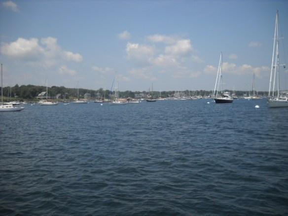 Starboard view. Jamestown Harbor.