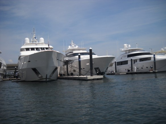 Mega-yachts at Newport R.I.