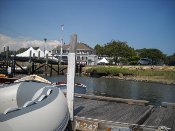 Dinghy dock, yacht club.