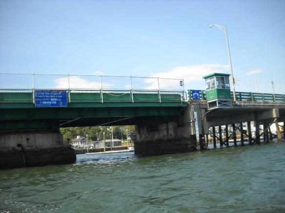 The swing bridge.