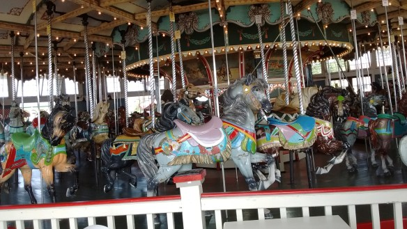 The only thing left from Paragon Park is the carosel.
