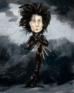 Edward Scissorhands Caricature
