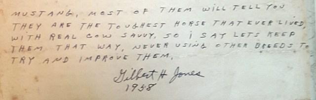 Gilbert Jones, Choctaw horses, Medicine Springs, Blackjack Mountain, Spanish Mustangs