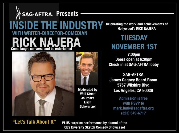 SAG-AFTRA to Celebrate the Works of Rick Najera