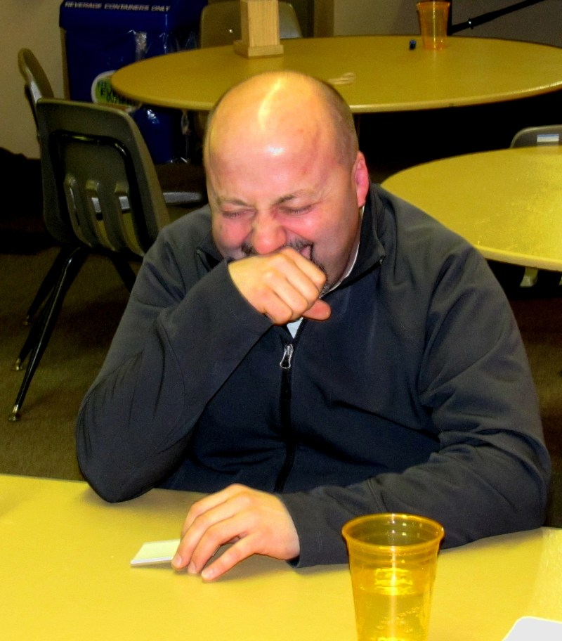 This was Dan's first game of CAH. He looked like this through pretty much the whole game.