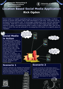 Location Based Social Media Poster