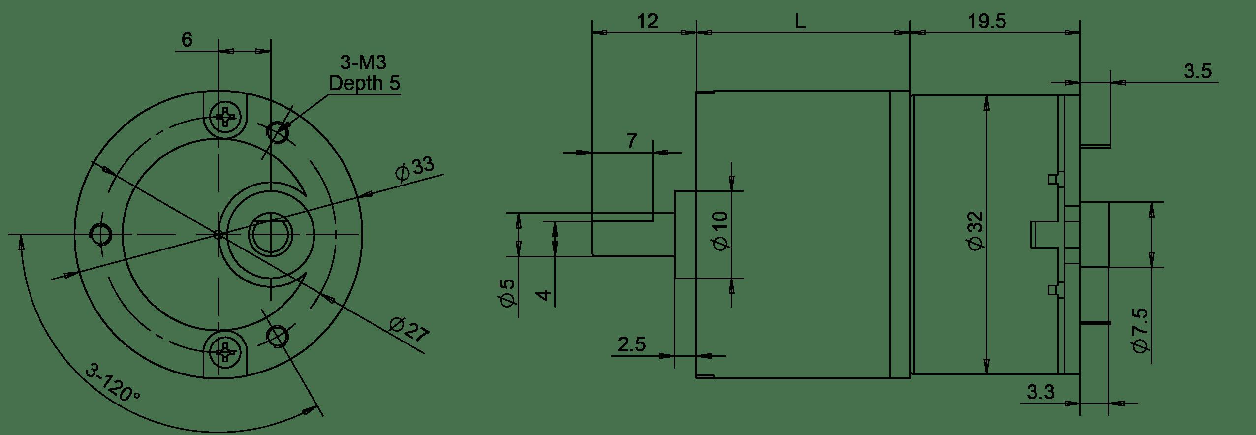 33mm Dc Gear Motor 3v 4 5v For Vending Machine