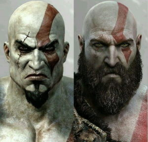 Kratos's original concept had an Omega symbol on his head. Riddles Now
