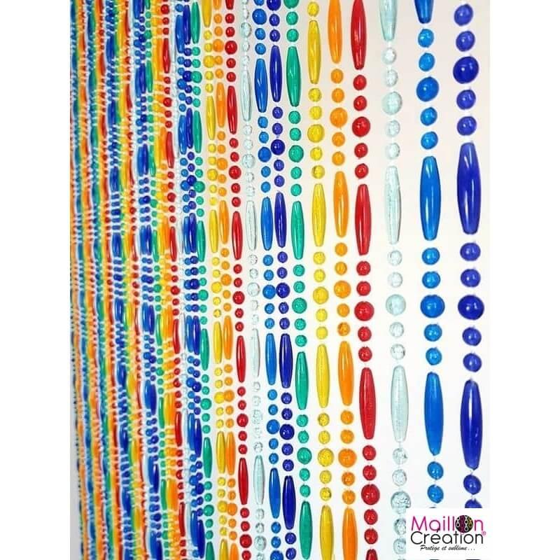portiere perle arc en ciel 90 x 220 cm