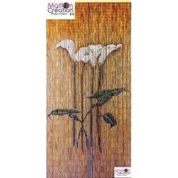 bamboo curtain arum flowers