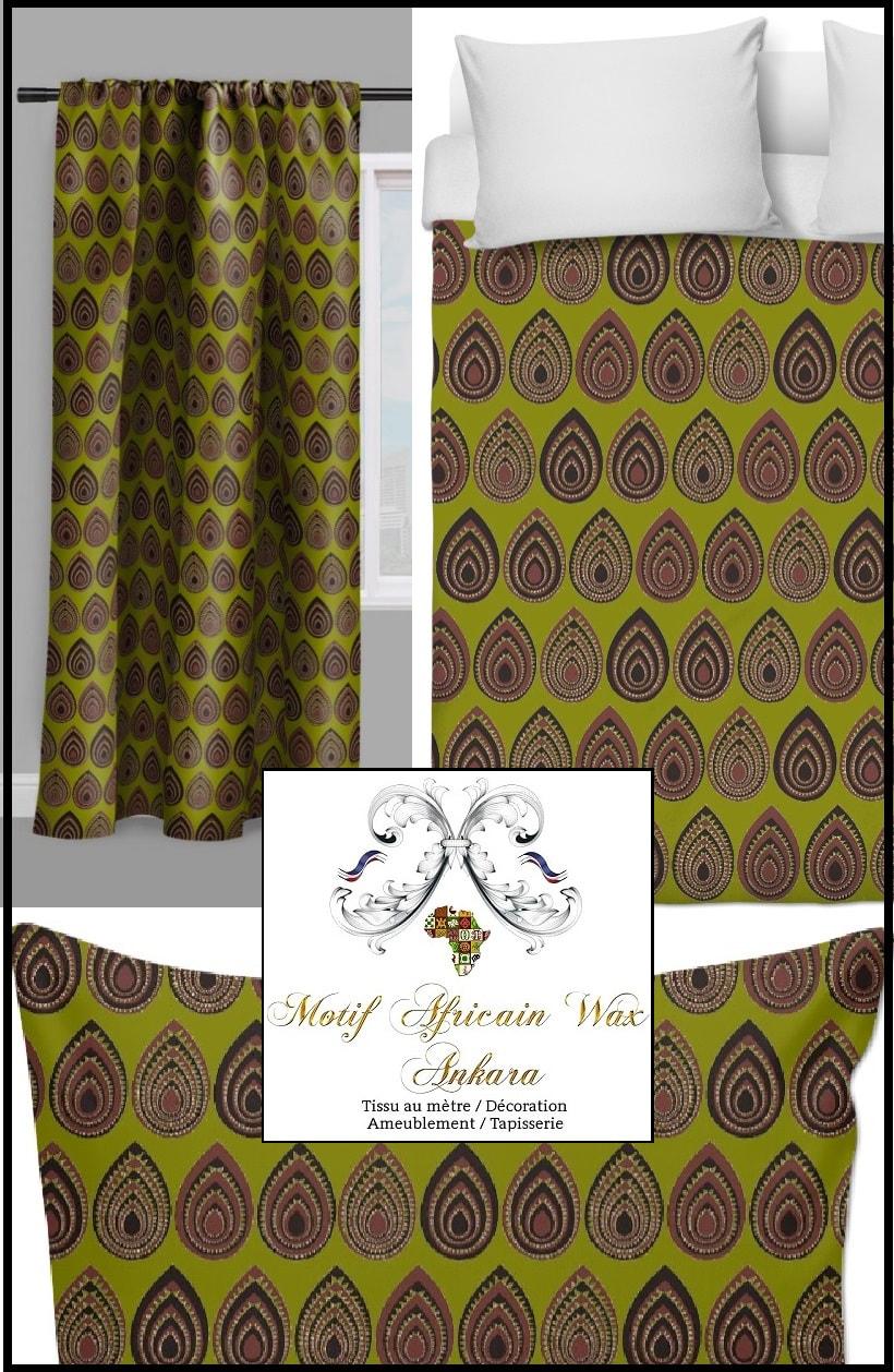 tissu rideau motif africain wax