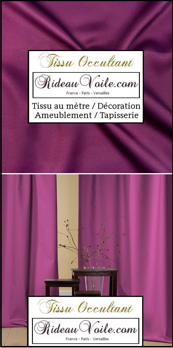 rideaux tissus occultant metre