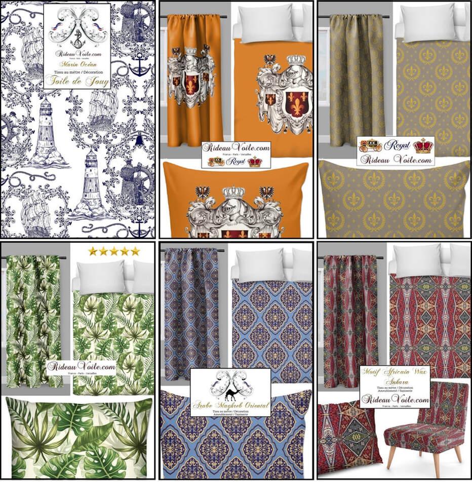 rideaux et tissus ameublement tissus