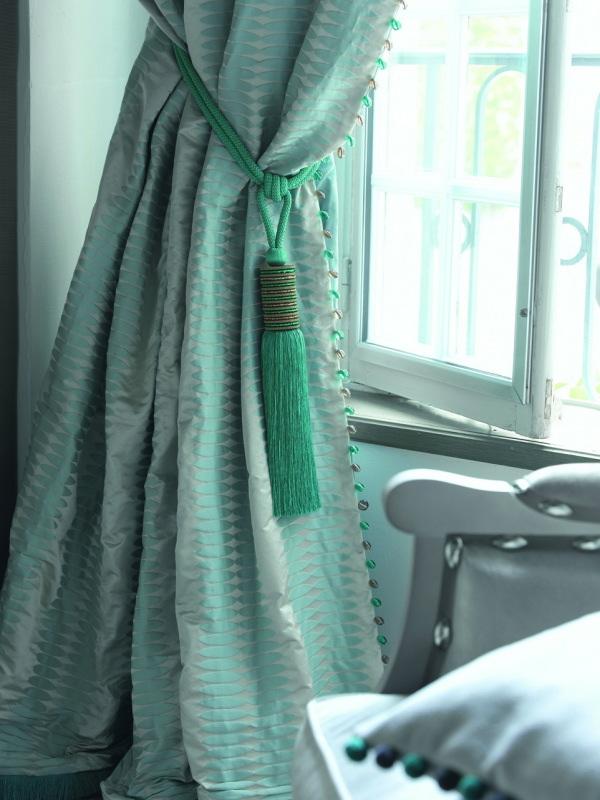 rideaux en jacquard de soie classique
