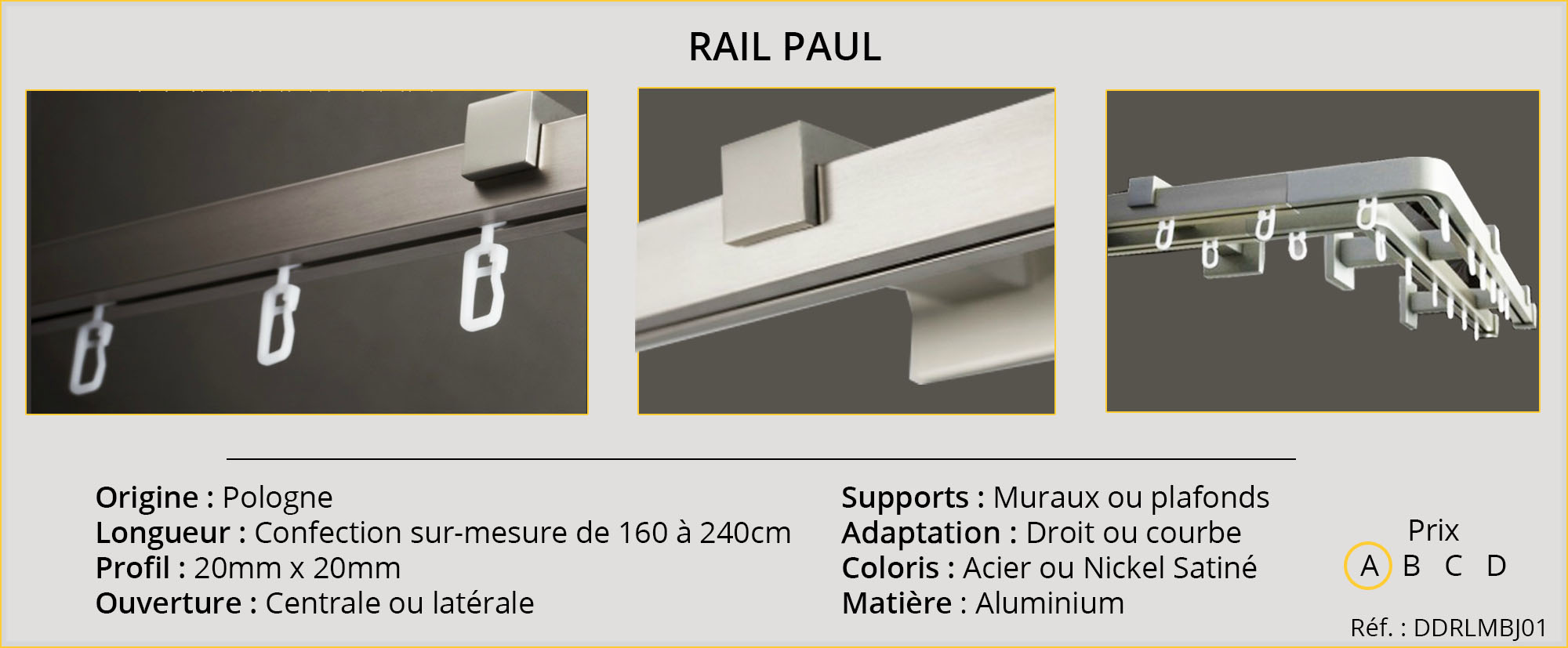 Catalogue Tringles Rails Et Barres Pour Rideaux Et Voilages
