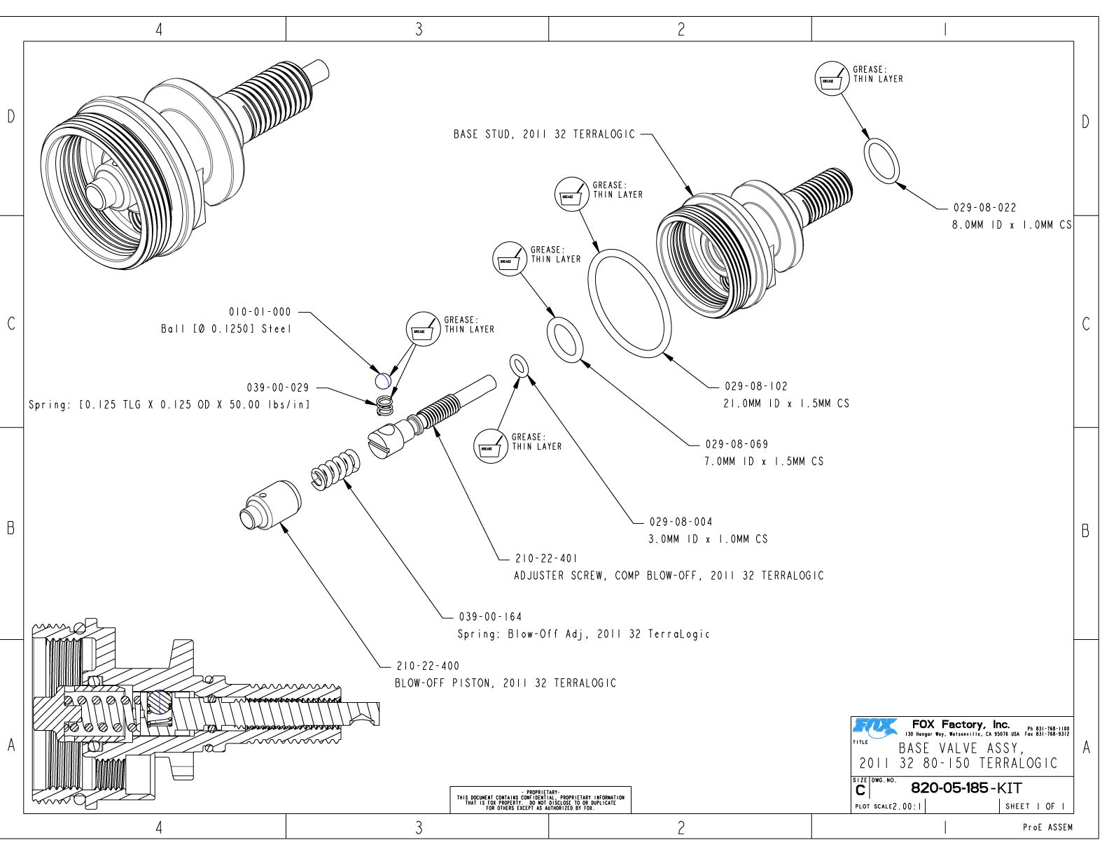 32mm Part Information