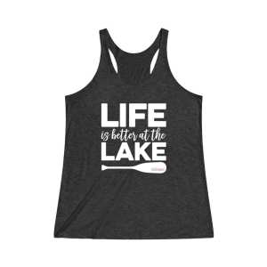 Life Is Better At The Lake Women's Tri-Blend Racerback Tank