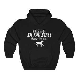 I'd Rather Be In The Stall Than At The Mall – Adult Hoodie