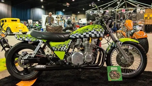 Rebuilt KZ-900 at the OKC Motorcycle Show