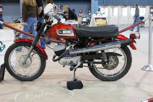Harley Davidson 125 cc dirt bike at OKC Motorcycle Show