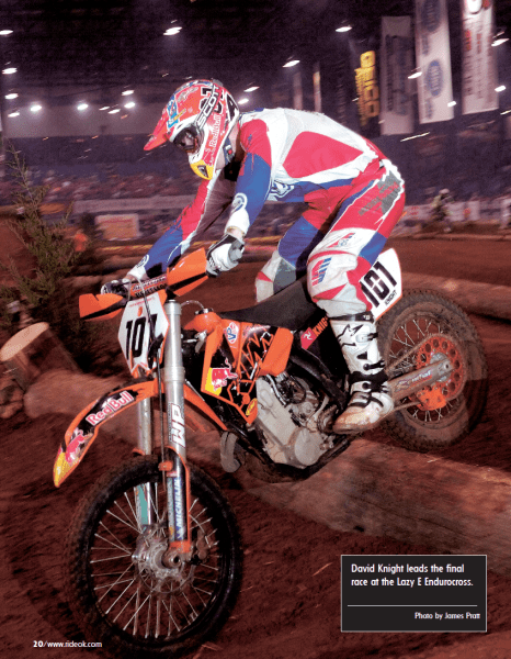 David Knight leads at the Lazy E Endurocross.