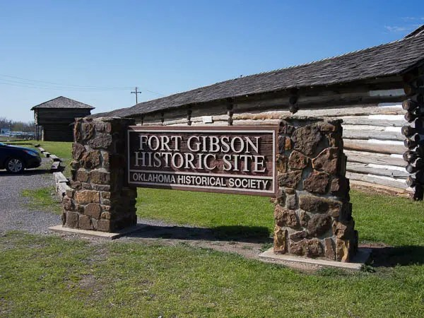 Be sure and stop at the historic Fort Gibson. Plan to spend an hour or more touring this great historic site.