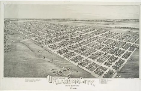 Artist rendering of Oklahoma City around 1890
